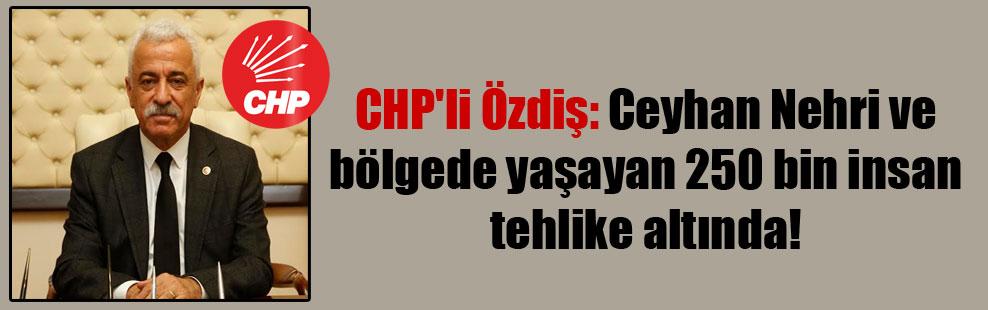CHP'li Özdiş: Ceyhan Nehri ve bölgede yaşayan 250 bin insan tehlike altında!