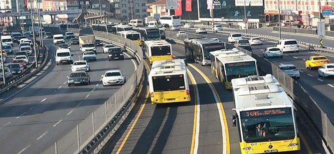 İstanbul'da tüm otobüsler sarı renk olacak