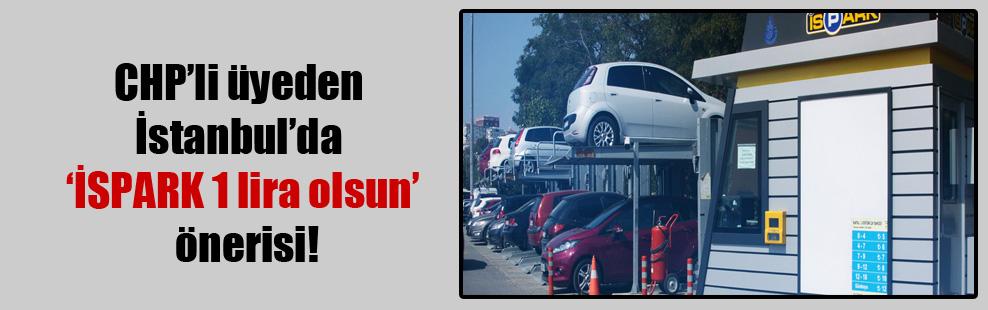 CHP'li üyeden İstanbul'da 'İSPARK 1 lira olsun' önerisi!