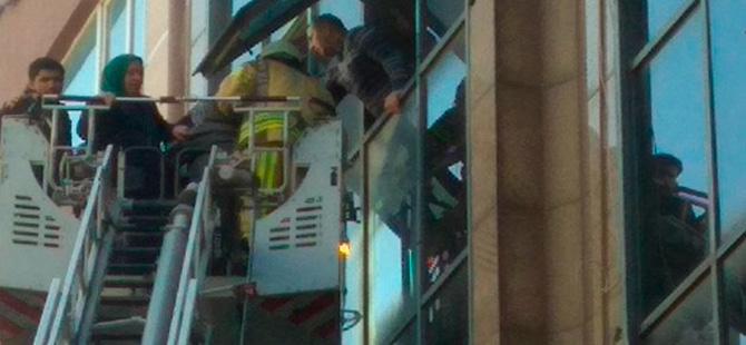 Kağıthane'de iş merkezinde yangın