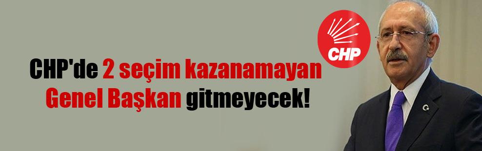 CHP'de 2 seçim kazanamayan Genel Başkan gitmeyecek!