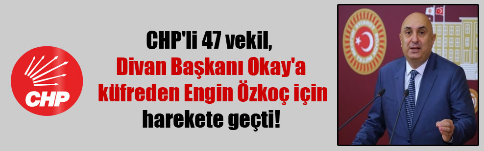 CHP'li 47 vekil, Divan Başkanı Okay'a küfreden Engin Özkoç için harekete geçti!