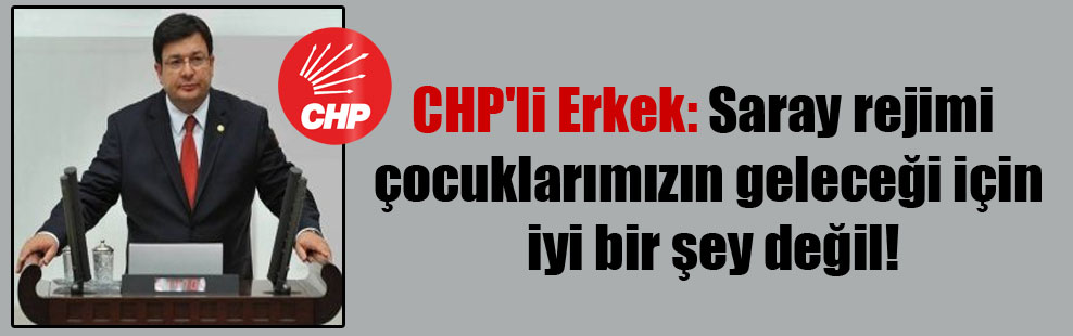 CHP'li Erkek: Saray rejimi çocuklarımızın geleceği için iyi bir şey değil!