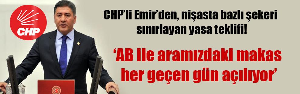 CHP'li Emir'den, nişasta bazlı şekeri sınırlayan yasa teklifi1