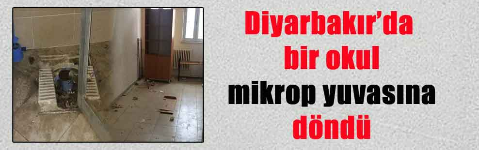 Diyarbakır'da bir okul mikrop yuvasına döndü