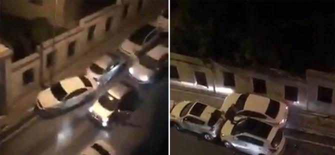 Otomobil hırsızları ortalığı birbirine kattı
