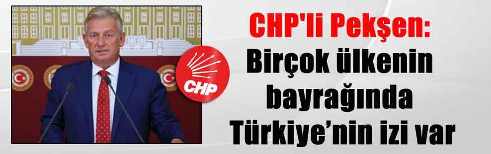 CHP'li Pekşen: Birçok ülkenin bayrağında Türkiye'nin izi var