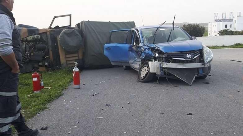 Askeri araç kaza yaptı: 7'si asker 10 yaralı