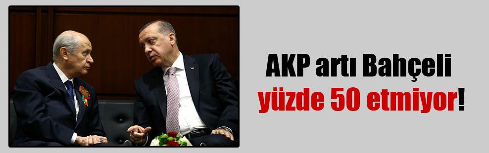AKP artı Bahçeli yüzde 50 etmiyor!