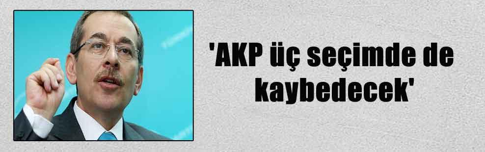'AKP üç seçimde de kaybedecek'