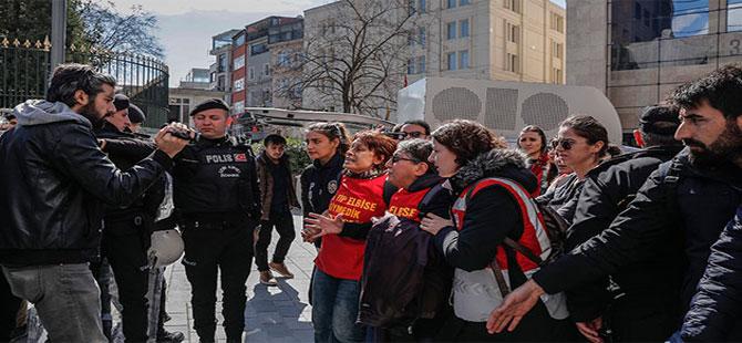 Silivri Cezaevine yürümek isteyen gruba polis müdahale etti, 6 kişi gözaltına alındı