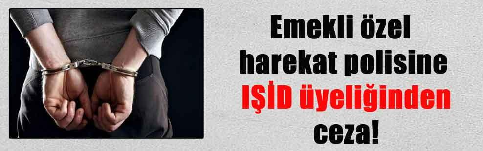 Emekli özel harekat polisine IŞİD üyeliğinden ceza!