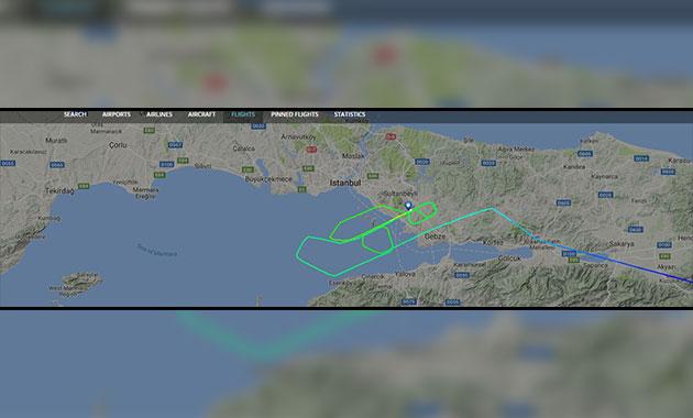 Flapları açılmayan uçak hava trafiğini durdurdu