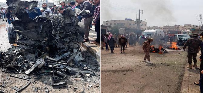 Azez'de otogarda bomba yüklü araçla saldırı: 17 yaralı