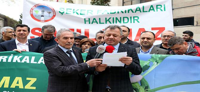 Beyoğlu'nda şeker fabrikası protestosu!