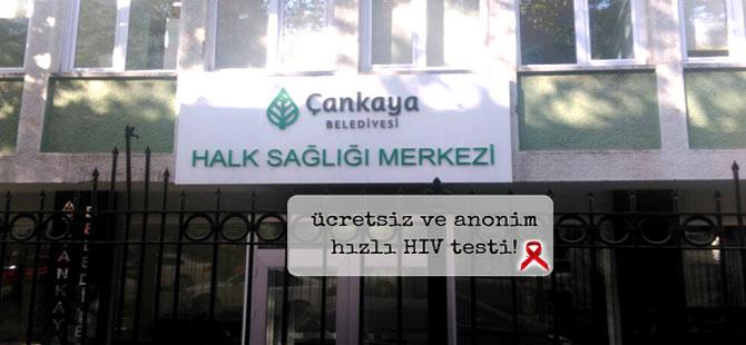 Çankaya Belediyesi'nden ücretsiz ve anonim hızlı HIV testi!