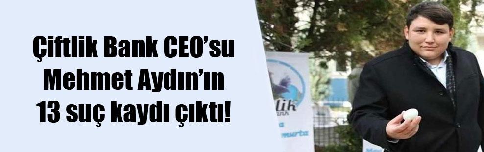 Çiftlik Bank CEO'su Mehmet Aydın'ın 13 suç kaydı çıktı!