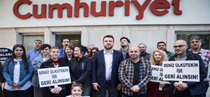 Cumhuriyet önünde işten çıkarma protestosu