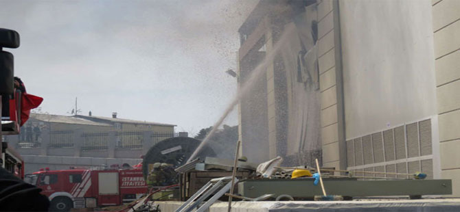 Dudullu metro trafo merkezinde yangın