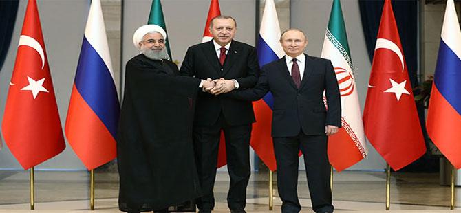 Beştepe'de Türkiye-Rusya-İran Üçlü Zirvesi