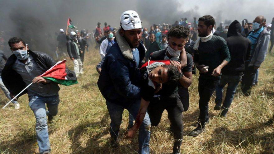 Gazze dumanlar altında: Ölü ve yaralılar var