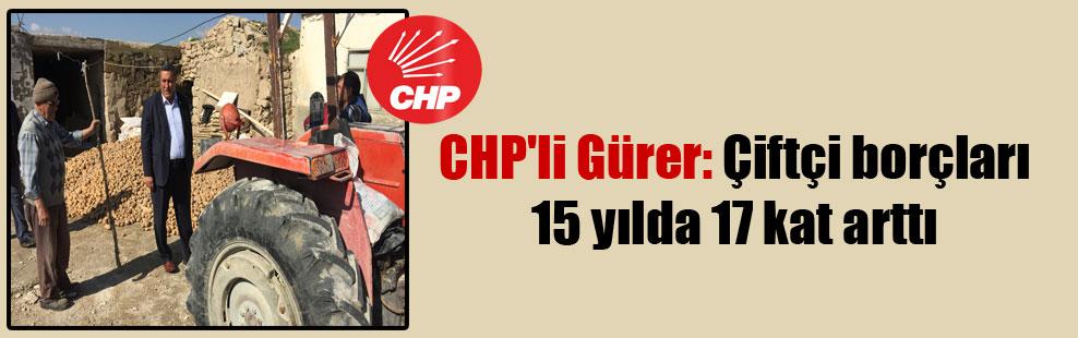 CHP'li Gürer: Çiftçi borçları 15 yılda 17 kat arttı