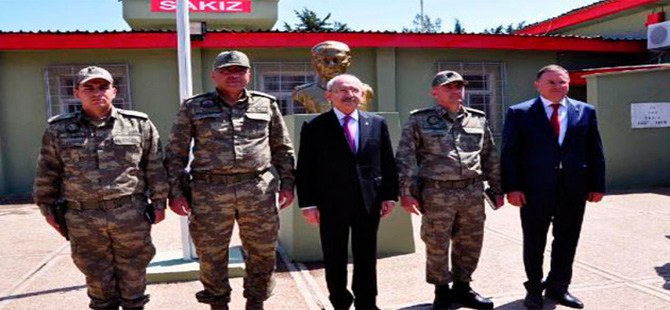 Kılıçdaroğlu sınır karakolunu ziyaret etti