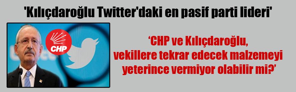 'Kılıçdaroğlu Twitter'daki en pasif parti lideri'