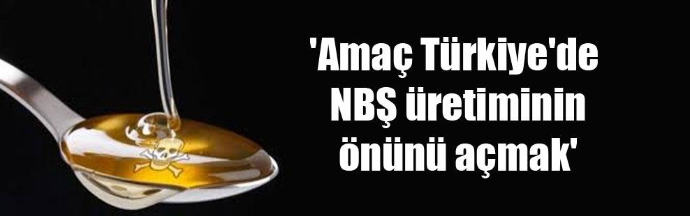 'Amaç Türkiye'de NBŞ üretiminin önünü açmak'