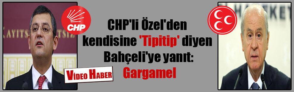 CHP'li Özel'den kendisine 'Tipitip' diyen Bahçeli'ye yanıt: Gargamel