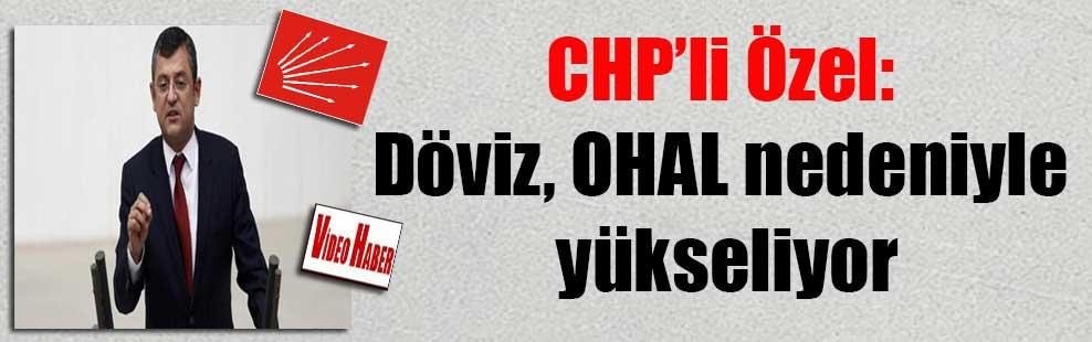 CHP'li Özel: Döviz, OHAL nedeniyle yükseliyor