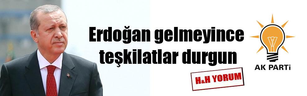 Erdoğan gelmeyince teşkilatlar durgun