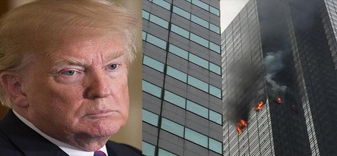 Trump'ın gökdeleninde yangın!
