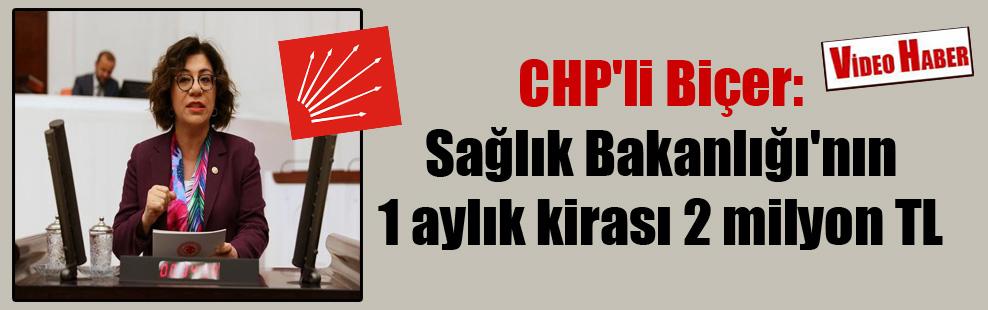CHP'li Biçer: Sağlık Bakanlığı'nın 1 aylık kirası 2 milyon TL