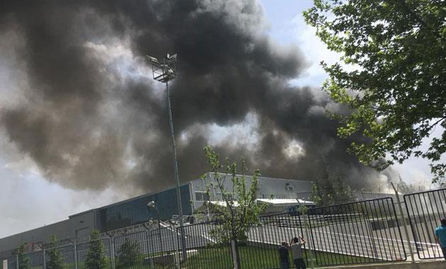 Eskişehir'de havacılık fabrikasında yangın