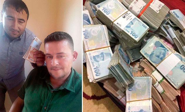 İçinde 500 bin lira olan bavulu getiren iki arkadaşa 10'ar bin lira ödül