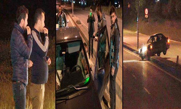 İstanbul Park Yolu'nda driftçilere polis baskını