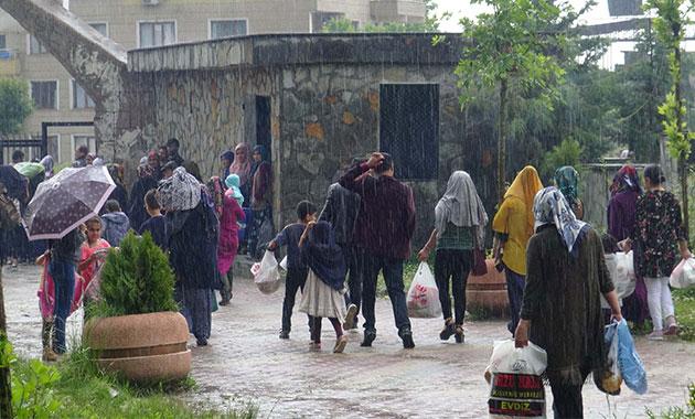 Silvan'da 1200 yıllık 'Gulan' bayramına sağanak engeli