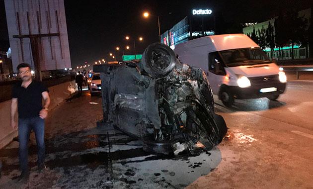 Basın Ekspres'te kaza: 2 yaralı