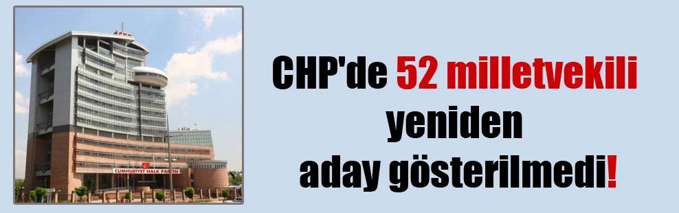 CHP'de 52 milletvekili yeniden aday gösterilmedi!
