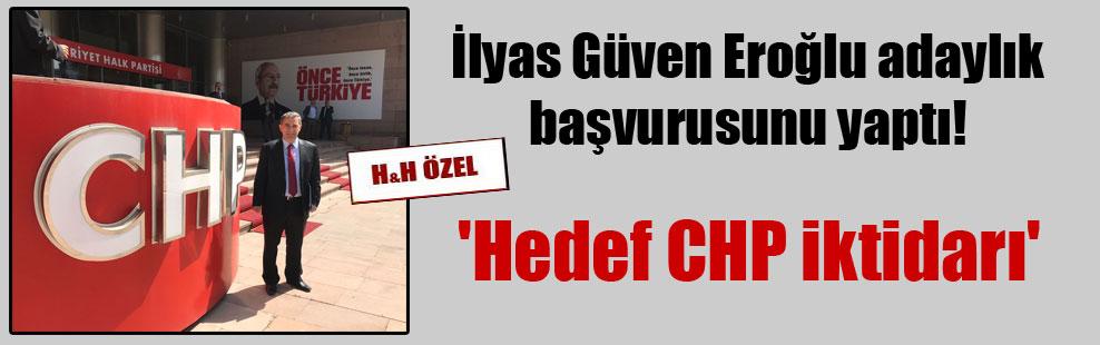 İlyas Güven Eroğlu adaylık başvurusunu yaptı! 'Hedef CHP iktidarı'
