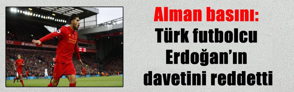 Alman basını: Türk futbolcu Erdoğan'ın davetini reddetti