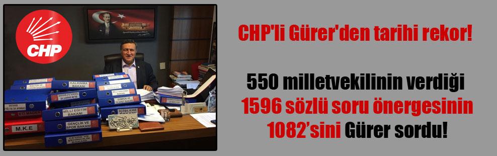 CHP'li Gürer'den tarihi rekor!