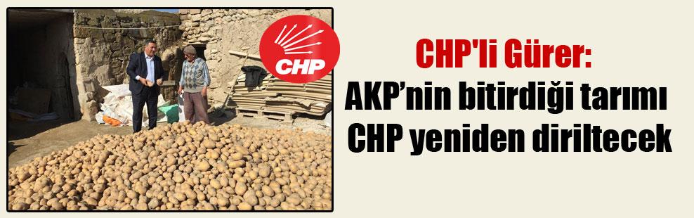 CHP'li Gürer: AKP'nin bitirdiği tarımı CHP yeniden diriltecek