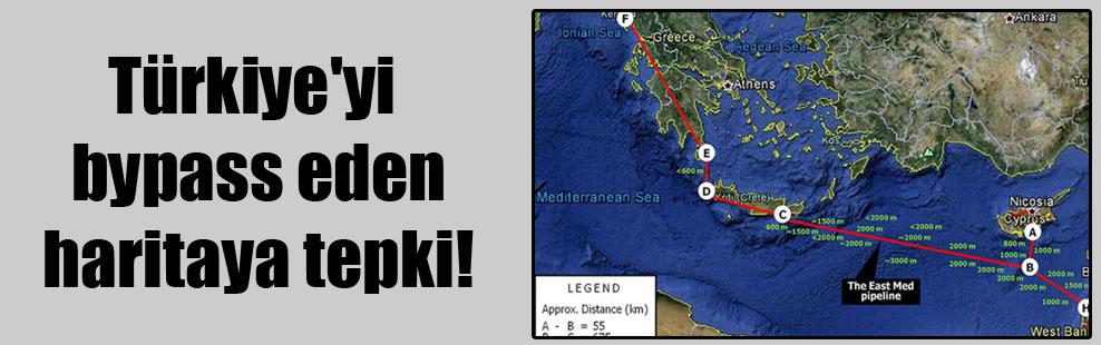 Türkiye'yi bypass eden haritaya tepki!