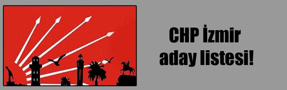 CHP İzmir aday listesi!