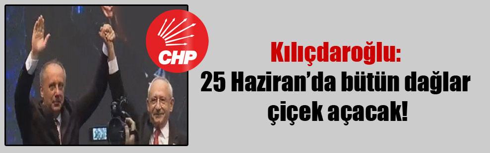 Kılıçdaroğlu: 25 Haziran'da bütün dağlar çiçek açacak!