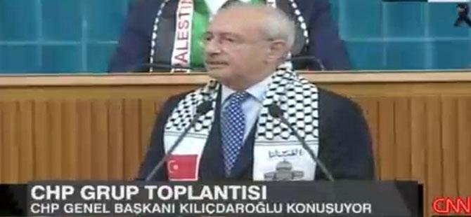 Kılıçdaroğlu Filistin atkısıyla Meclis'te: İsrail'deki büyükelçimizi derhal geri çekin!