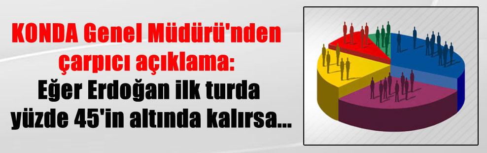 KONDA Genel Müdürü'nden çarpıcı açıklama: Eğer Erdoğan ilk turda yüzde 45'in altında kalırsa…