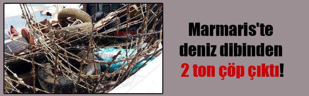 Marmaris'te deniz dibinden 2 ton çöp çıktı!
